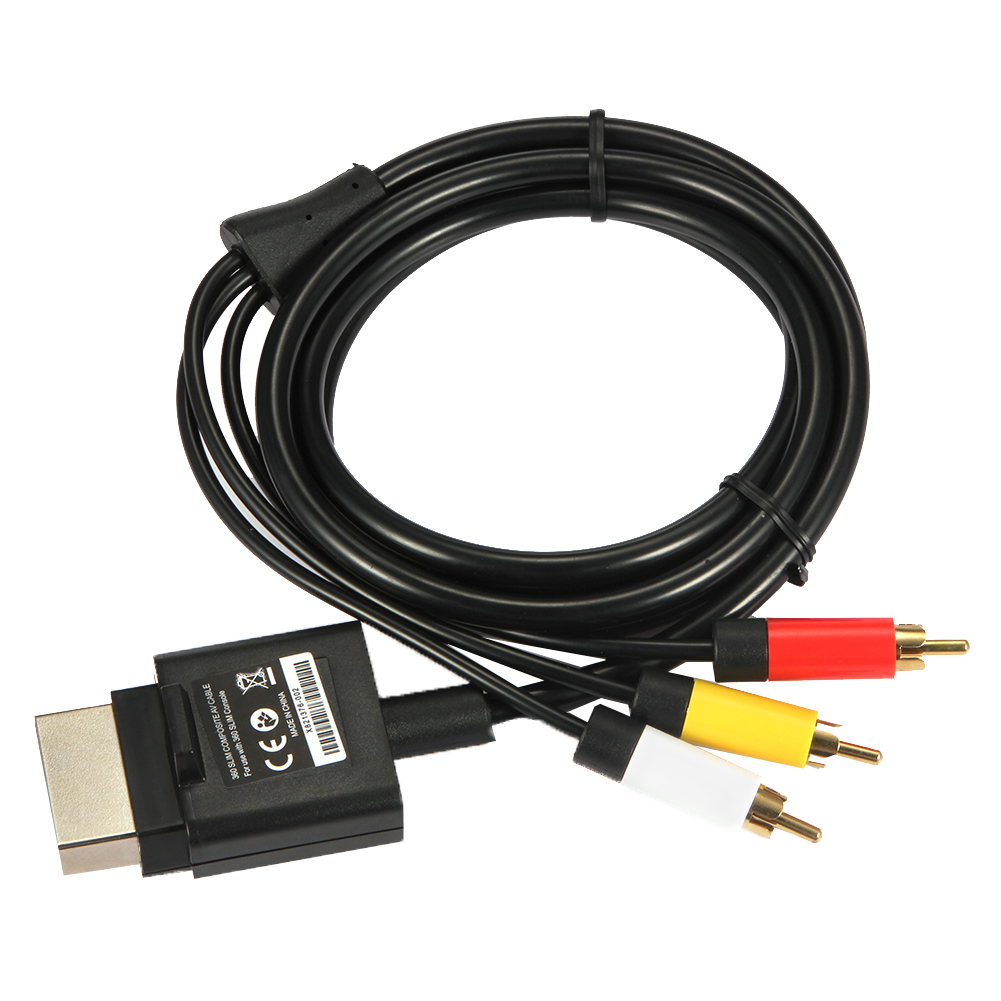1,8 m 6 ft audio-video AV RCA Video Composite kabel AV kabel snoer voor Microsoft Xbox 360 Slim voor XBOX 360