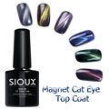 Sioux 8ml Newest Popular Soak Off Cat Eye Top Coat Gel Polish 6 Colors Professional Gel Nail Polish Colurful Noble Vanish