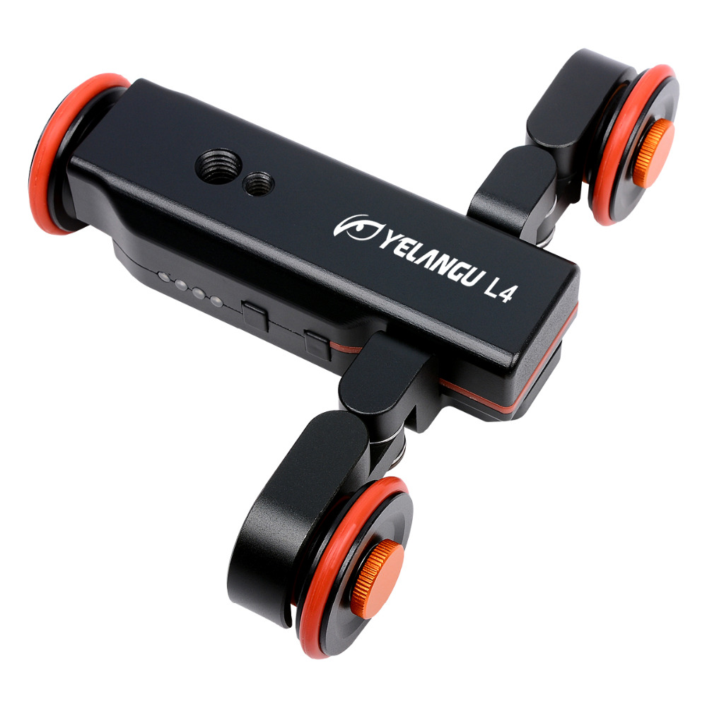 New Mini Wireless Remote Control intelligent Electric 3 Wheel Rolling Slider Motorized Auto Camera Dolly II generation Car 360 d new 4 wheels mobile rolling sliding dolly stabilizer skater slider motorized push cart tractor for gopro 5 4 3 3 2 1 camera