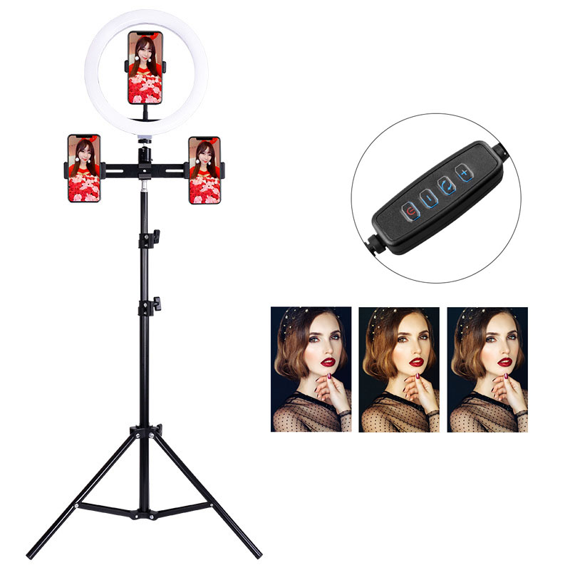 10inch 26cm USB charge Selfie Ring Light Flash Led Camera Phone Photography Enhancing Photography phone Studio VK YouTube Video