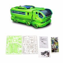 7 in 1 DIY Assemble Solar Powered Car Kit Intelligence Educational Toy Kid Gift