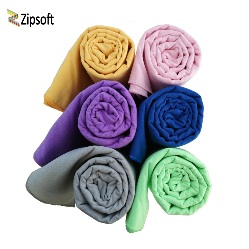 Zipsoft Microfiber Swimming towels Hot Yoga Towel Fast dry Beach towel Fun Logo Pool towels Camping Sport Outdoor Soft Bath Mat клавиатура cooler master masterkeys pro s led white sgk 4090 kkcr1 ru