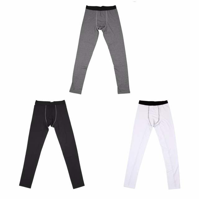 Solid Color Running Tights Men Tight Training Sport Pants Long Type Quick Drying Perspiration Wicking Exercise Running Trouser