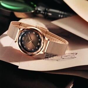 Image 5 - Moda feminina relógios 2019 civo à prova dwaterproof água rosa ouro aço malha cinta de quartzo relógio feminino marca superior senhoras relógio relogio feminino