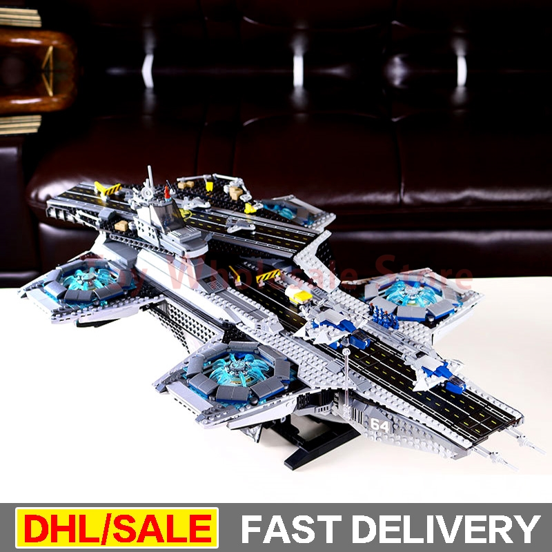 LEPIN 07043 3057Pcs marvel Super Heroes The Shield Helicarrier Building Block Kits legoings Toys Clone 76042 lepin 07043 3057pcs super heroes the shield helicarrier model building blocks bricks toys compatible 76042 for children