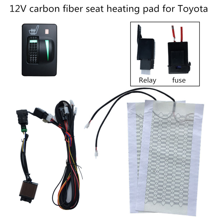 car seat heater 12V heating fit Prado,Corolla,RAV4,Reiz,Yaris,Camry,Crown EZ,Vios,Venza,Alphard,Scion General seat heating