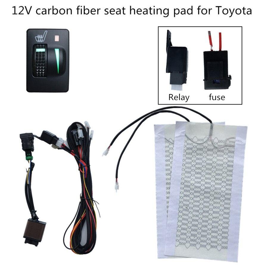 все цены на car seat heater 12V heating fit Prado,Corolla,RAV4,Reiz,Yaris,Camry,Crown EZ,Vios,Venza,Alphard,Scion General seat heating онлайн