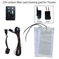car seat heater 12V heating fit Prado,Corolla,RAV4,Reiz,Yaris,Camry,Crown EZ,Vios,Venza,Alphard,Scion General seat heating