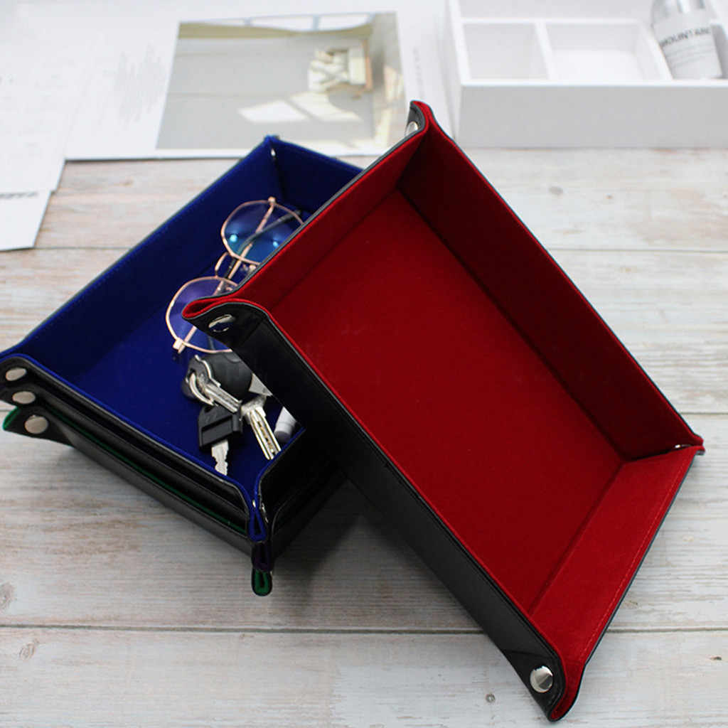 Dice Tray Portable Folding Dice Rolling Tray for use as Game Dice Tray Collapsible Tray Desktop Decorative Storage Box Tray