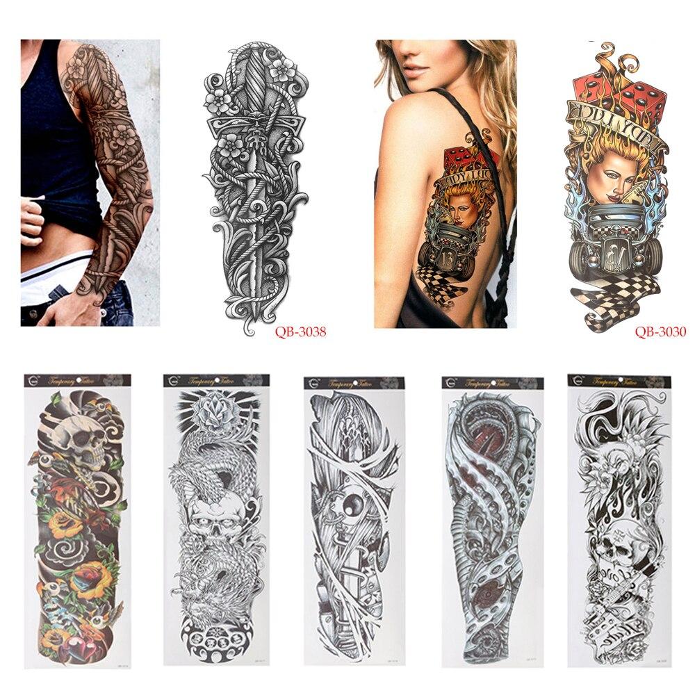 1 Pc Fai Da Te Autoadesivi Provvisori Del Tatuaggio Impermeabile Nun Ragazza Pregate Di Disegno Pieno Fiore Braccio Body Art Beckham Di Grandi Dimensioni Del Tatuaggio Di Falsificazione Sticker