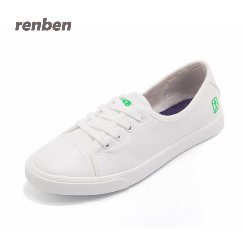 RenBen Women Canvas Shoes 2017 Casual women Flats Summer White Shoes Fashion Lace up Loafers Candy Color shoes  6e66 renben women canvas shoes 2017 fashion flats women casual white shoes breathable canvas lace up candy colors shoes 6e06