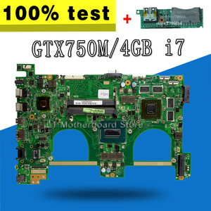 Отправка платы + N550JK материнская плата i7-4700HQ gt750 для For Asus N550J G550JK Q550J материнская плата для ноутбука N550JK материнская плата N550JK материнская пла...