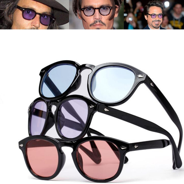 3216ccc810 Vintage Johnny Depp Robert Downey Jr Sunglasses Retro Fashion Full Rim Men  Sun Glasses Rx able