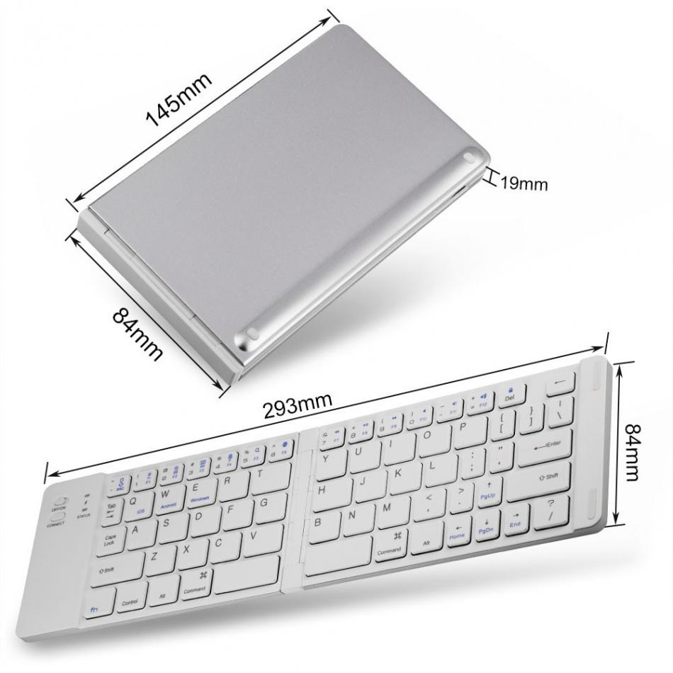 Portable Magnetic Folding Wireless Bluetooth Keyboard 2018 portable bluetooth keyboards for Android IOS Windows