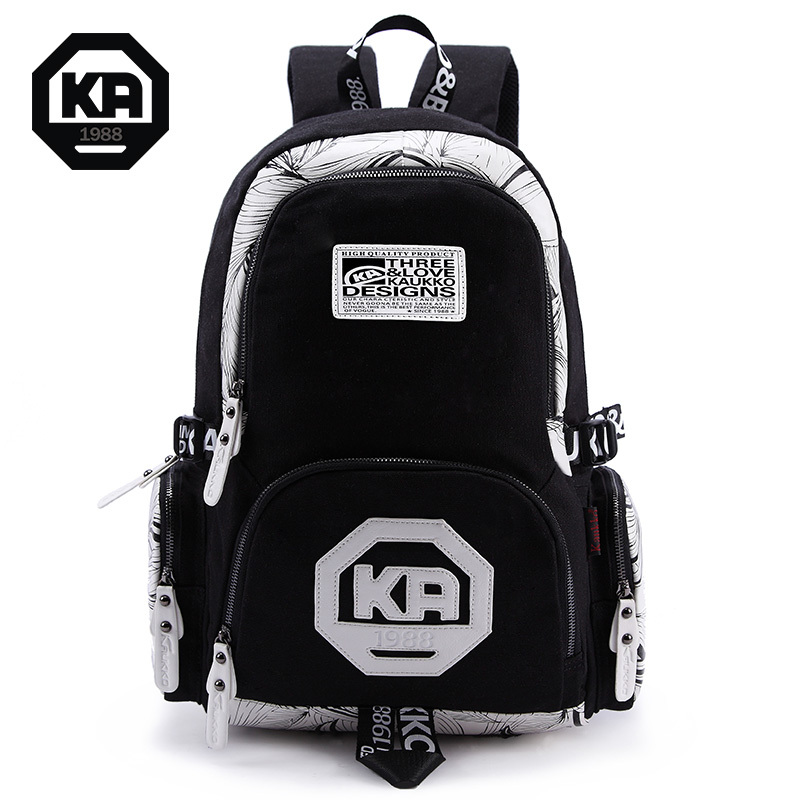 ФОТО Fashion patchwork printing backpack for girls school bag canvas backpacks women