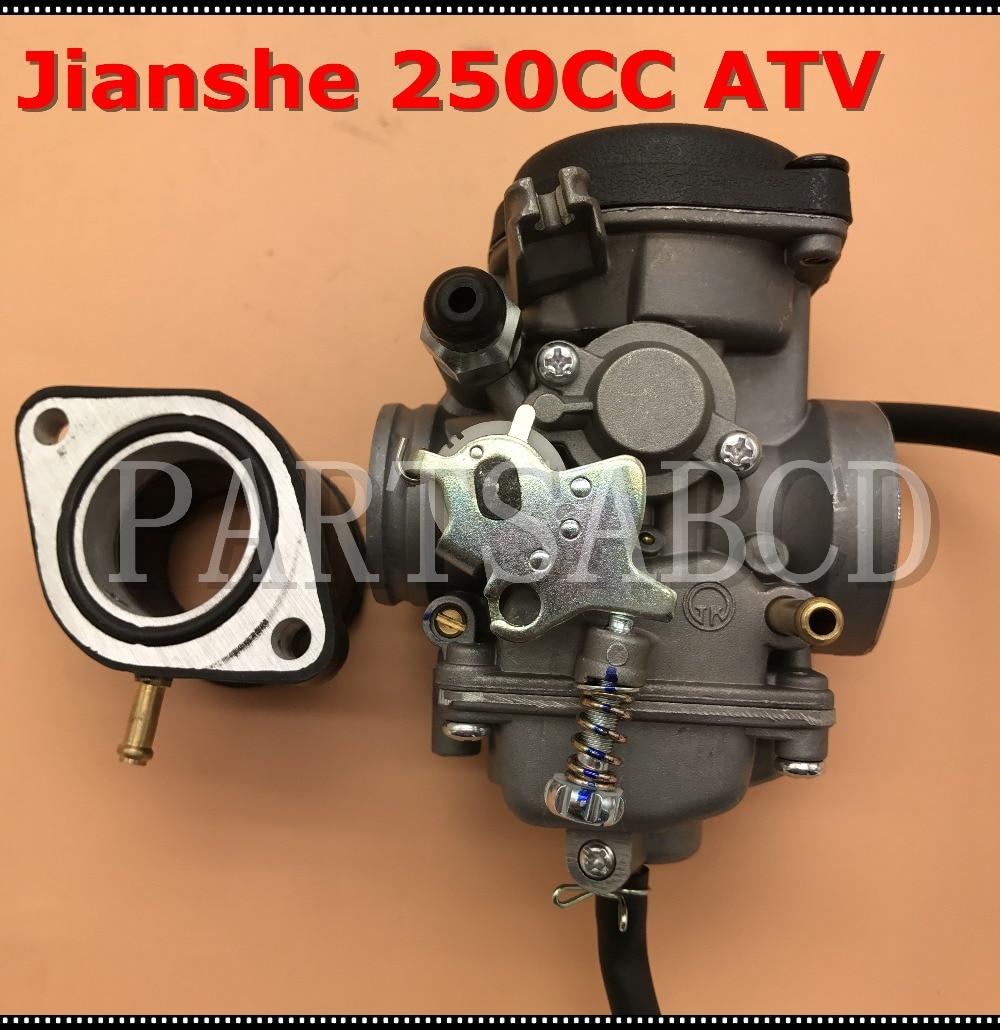Manco Talon 260cc 300cc Linhai Bighorn Jcl Xingyue 300 Atv Fuel Pump 250cc Chinese Wiring Diagram 30mm Carburetor Tk Jianshe Loncin Bashan Quad Atv250 Js250 With Intake Manifold