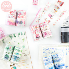 Mr Papier 8 Stks/set 24 Ontwerpen Diy Scrapbooking Planner Decoratie Washi Tapes Kawaii Dromerige Maiden Kleurrijke Deco Masking Tapes(China)