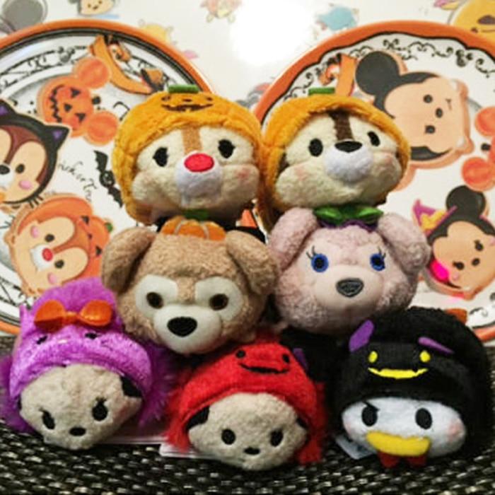 Tsum Tsum Mini 9cm Plush Toys Screen Cleaner Minnie Mickey Duffy cartoon soft stuffed dolls keychain