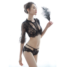 New Women's Underwear Set Sexy Lingerie Cute and Playful Sexy Perspective Mesh Two-piece Temptation Role-playing Aesthetic Suit new sexy lingerie lace bow cute cute maid sexy perspective mesh uniform temptation role playing suit clothes bracelet headdress