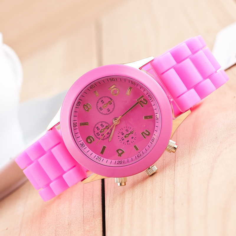 12 colors Brand Geneva Women Casual Quartz Wrist Watch Women Sports Silicone Watches reloj mujer Fashion Watch Relogio feminino цена