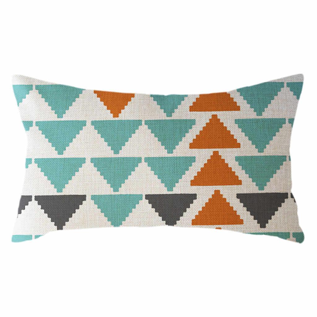 Многоцветный минималистский геометрический наволочки лен 30x50 см Наволочки с принтами Полиэстер дома кровать номер A3022715