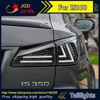 Стайлинга автомобилей задние фонари для Lexus IS250 2006 2012 светодиодные задние лампы задний багажник крышка лампы DRL + сигнала + тормоза + обратный