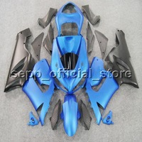 Custom Screws+NEW aftermarket bodywork blue ZX6R 05 06 ABS motorcycle cover Fairing for Kawasaki ZX 6R 2005 2006 636 Ninja
