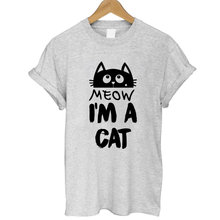 2017 Summer Lady T Shirts KITTY KITTEN Meow Print Cotton T shirt for Women Harajuku Brand