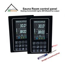 220V 110V 30A Dual panels ozone dry sauna heaters Temperture Controller for light led(China)