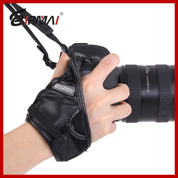 Professional Leather Camera Wrist Strap Hand Grip for DSLR SLR Canon Nikon Fuji Camcorder image