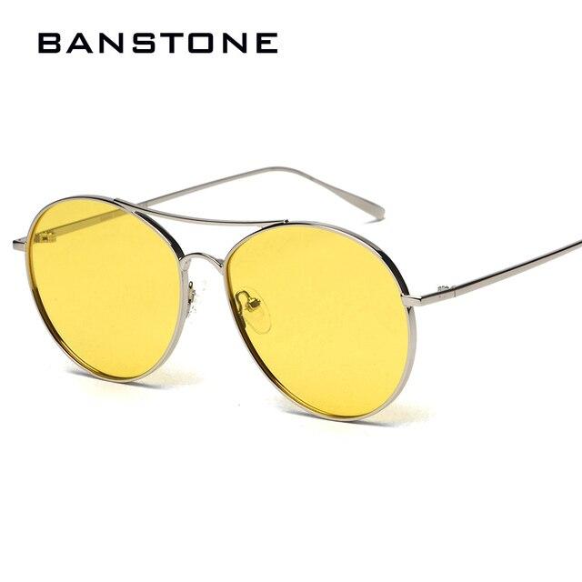 a585936b182 BANSTONE 2017 New Fashion Oval Aviator Style Polarized Sunglasses Men Women  Tint Ocean Lens Sun Glasses