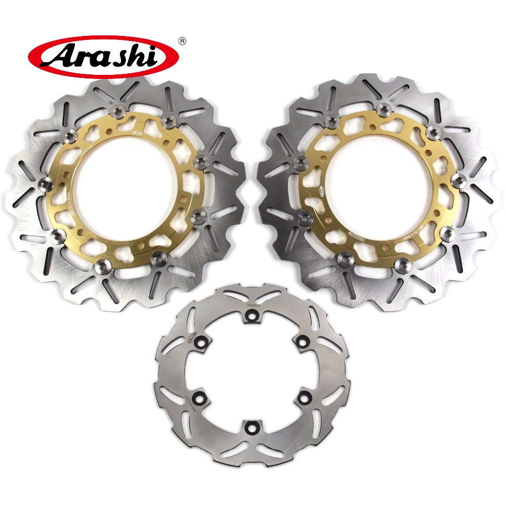 Arashi 1 Set YZF R6 600 1999 2000 2001 2002 CNC Floating Front Rear Brake Disc Rotors For YAMAHA R6 1999-2002