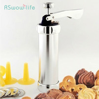 New Products Household Aluminum Alloy Tub Cookie Machine Fancy Biscuit Extruder Waffle Maker Various Shapes