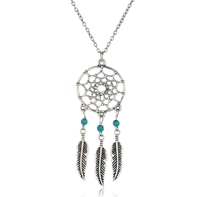 Vintage Dream Catcher Pendant Necklace
