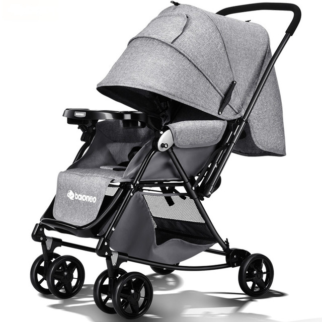 Cochecito de bebé del carro de bebé portable puede sentarse y mentira bebé paraguas plegable carro carro de alta paisaje niños