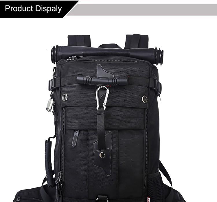 KAKA Men Backpack Travel Bag Large Capacity Versatile Utility Mountaineering Multifunctional Waterproof Backpack Luggage Bag 3