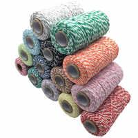 Di alta Qualità 1 Rotolo 100 Metri 2Ply Bakers filo di Cotone Stringa del Cavo di Corda Rustico Paese Mestiere 16 Colori AA7644