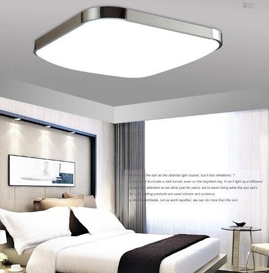 Us 36 39 30 Off Led Ceiling Light Lamp Indoor Modern Lighting Abajur Square For Home Bedroom Living Dinning Room In