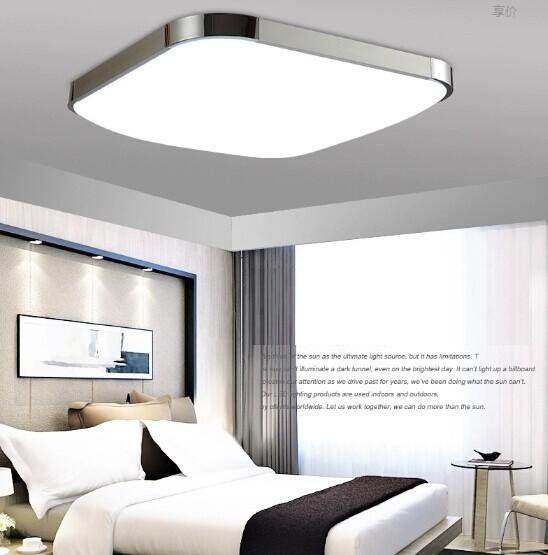led lmpara de luz de techo moderna iluminacin interior abajur de techo cuadrada llev la luz