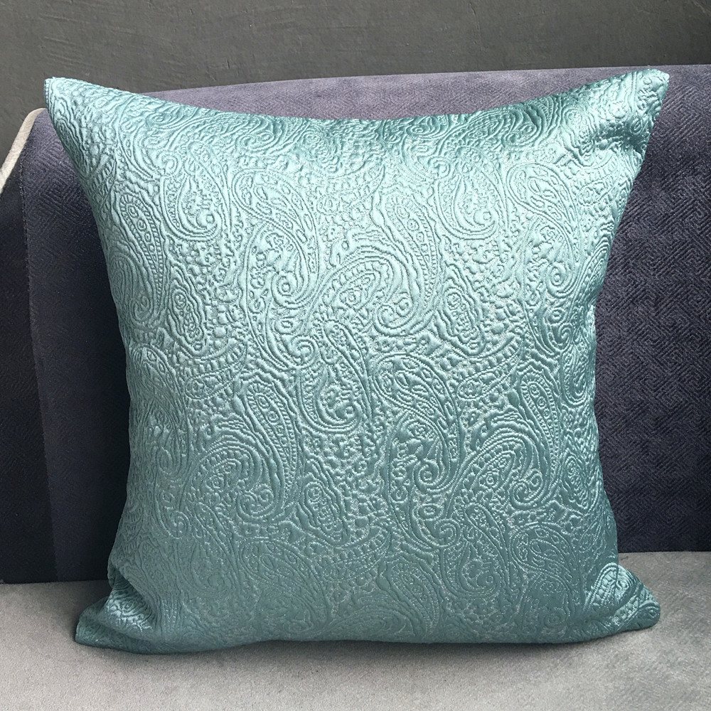 Small Square Decorative Pillows : Classical Euro Jacquard Woven Small PAISLEY Decorative Cushion Cover Square Designer Sofa Pillow ...