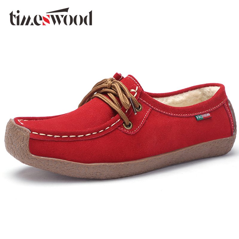 Spring Plush Boat Shoe Cow Leather Women Flats Suede Slip on Fringe - Zapatos de mujer