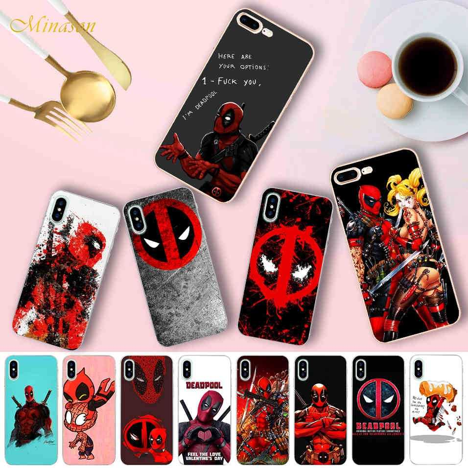 Funny Deadpool Quotes Case for iPhone X 5 5S XR XS Max 6 6S 7 8 Plus Cover  Soft Silicone Phone Fundas Capinha Coque