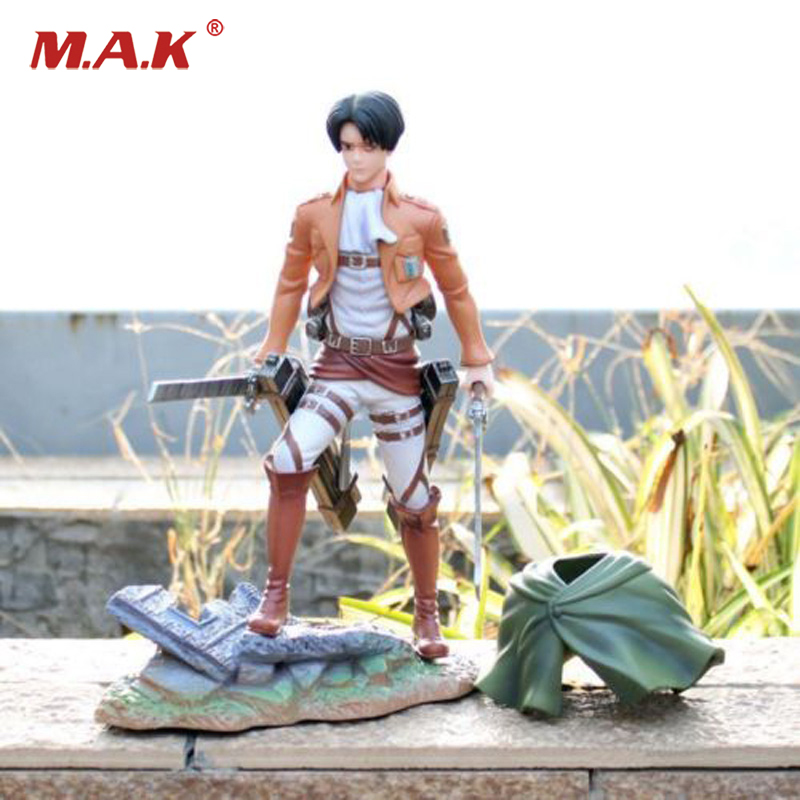 25cm Anime Sentinel Attack on Titan Shingeki no Kyojin Levi Action Rivaille Figma PVC Figure 50pcs high quality adaptation sanyo chunhua vacuum cleaner accessories dust bag garbage paper bag xtw 80 zw80 936