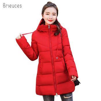 a27a5ec53864a Yeni Kış Ceket Kadın Parkas Kalın aşağı Pamuk Ceketler kadın Artı Boyutu Kış  Ceket Kadınlar uzun Parkas Kapşonlu Dış Giyim Kadın