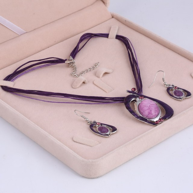 ZOSHI Jewelry Set Enamel...
