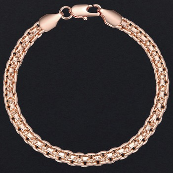 5mm Bracelet for Women Girls 585 Rose Gold Bismark Link Chain Bracelet Woman Jewelry Hot Party Jewelry Gifts 18cm 20cm GB422 2