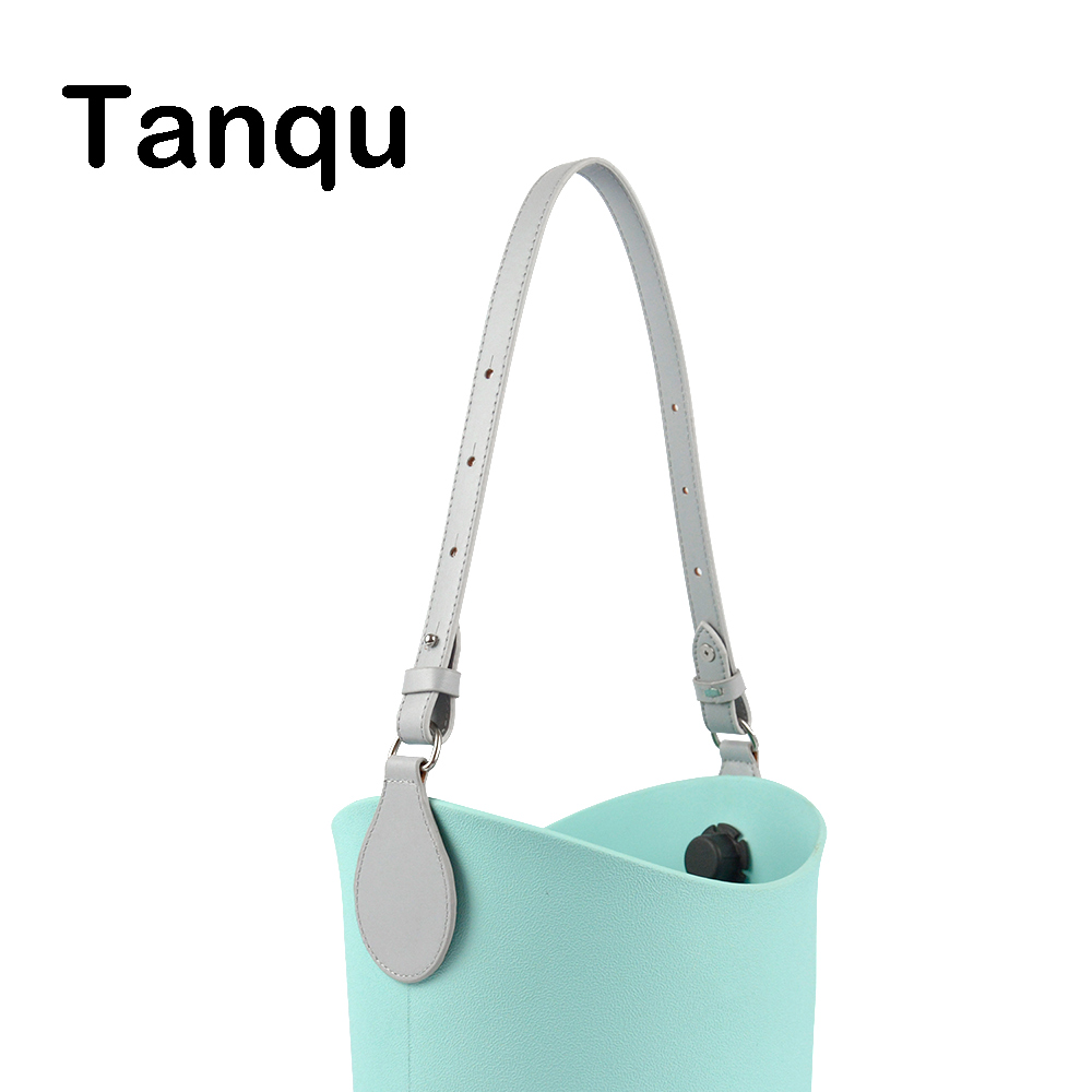 TANQU Bidirectional Adjustable Length Flat Edge Paint Leather Belt Handle With Drop For Obag O Basket Bucket Women Handbag O Bag