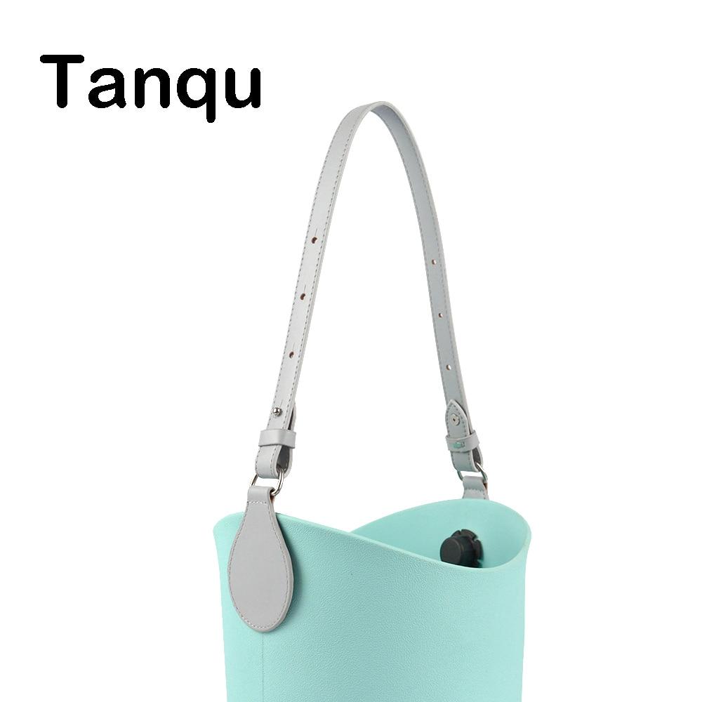 TANQU Bidirectional Adjustable Length Flat Edge Paint Leather Belt Handle With Drop For Obag O Basket Bucket Women Handbag O Bag