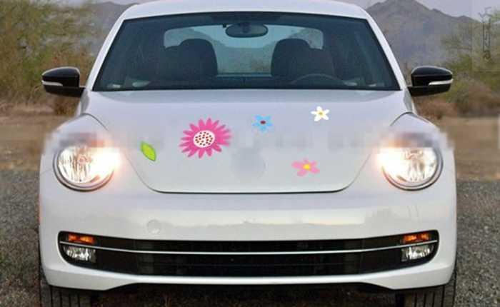 ユニバーサルハッチバック車のステッカー日照夏女の子スタイル全体車ひまわり Volkwagen カブトムシ Z2CA0417