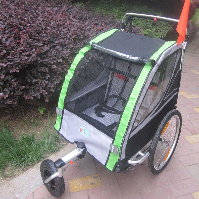 Lovebaby 20 pouces roue pneumatique et cadre en alliage d'aluminium bébé survêtement remorque de vélo forte preuve de choc poussette avec frein à main